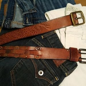 Two for $12 Leather Belts - Levi's & American Eagl